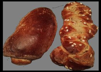 Gevlochten suikerbrood