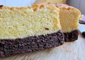 Brownie-vanillecake