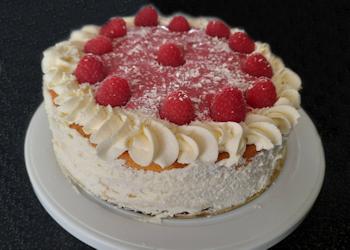 Frambozen-cheesecake