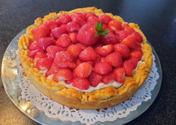 Parijse aardbeien-vanilletaart