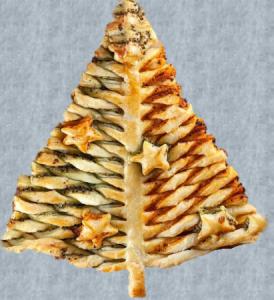 Bakkerij, hapjes – Kerstboom-van-bladerdeeg-5