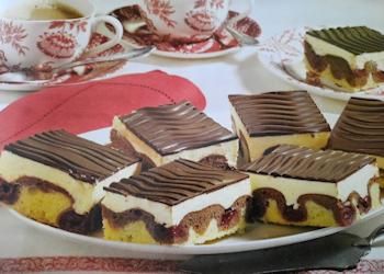 Zachte cake met chocolade