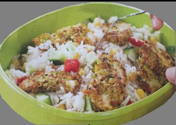 Kiplekkere rijstsalade