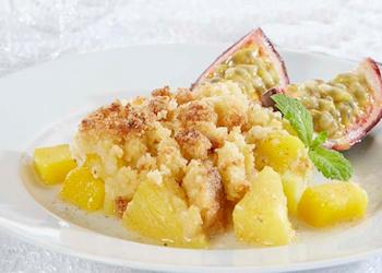 Crumble ananas en mango