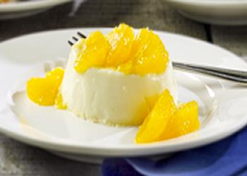 Panna cotta sinaasappel honing