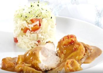 Fazant, kreeftensaus, rijst