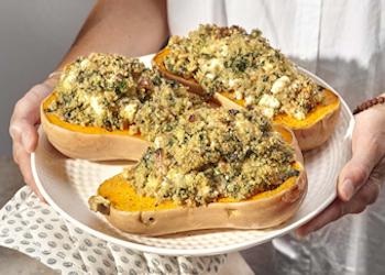 Butternut met quinoa