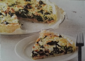 Quiche zalm & spinazie