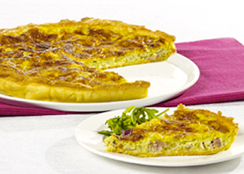 Quiche bacon en tuinkers