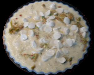 Hoofdgerechten, quiche – kip-kerrie, prei, paprika, ananas 1