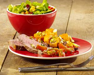 Hoofdgerechten, rund – Dunne lende met pittige tomatensalsa