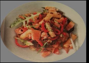 Hoofdgerechten, salade – Pittige-Pastasalade-met-zalm