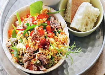 Couscoussalade & tonijn