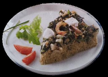 Quinoa-quiche frutti di mare