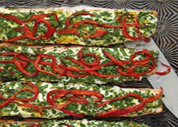 Zalmfilet, kruiden, rode peper