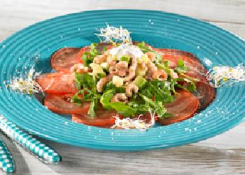 Carpaccio-tomaat-garnaal…