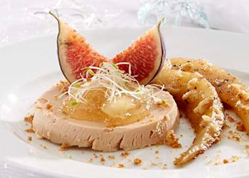 Foie gras met speculaas en peer